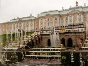 Wasserspiele am Peterhof.